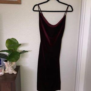 Jazzy Belle Burgundy Velvet Dress by Lulu's